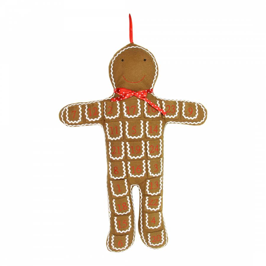 Image of Fabric Gingerbread Man Advent 71cm