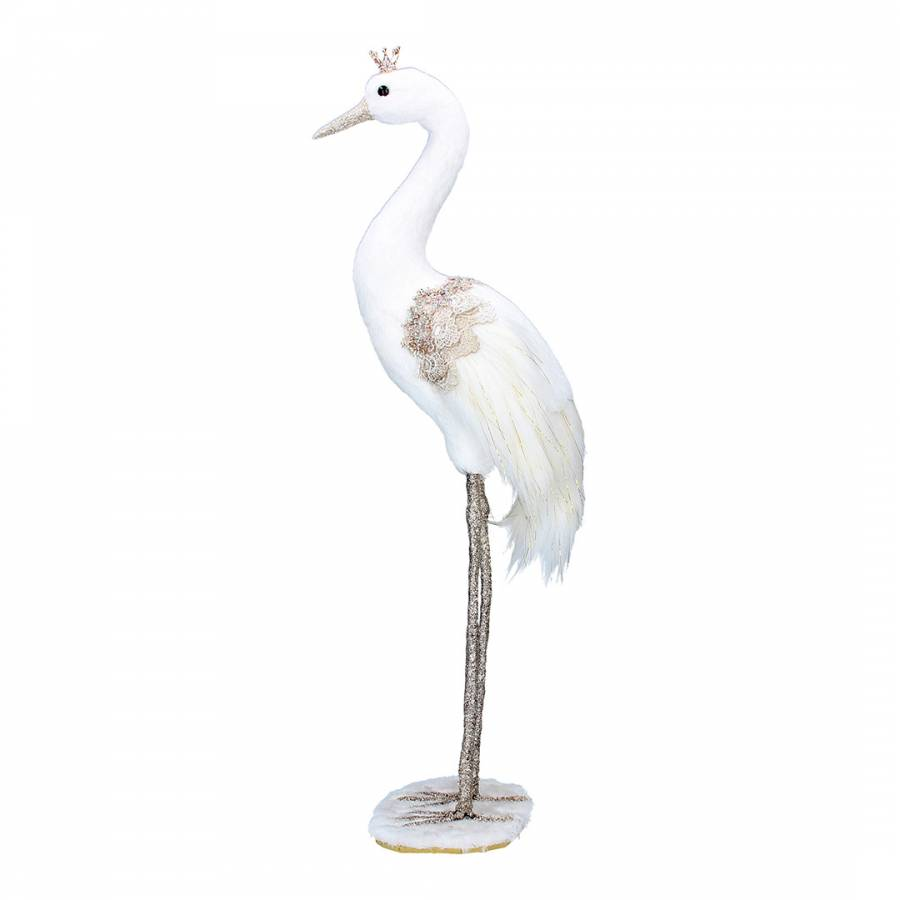 Image of Cream/Gold Crane Small Ornament
