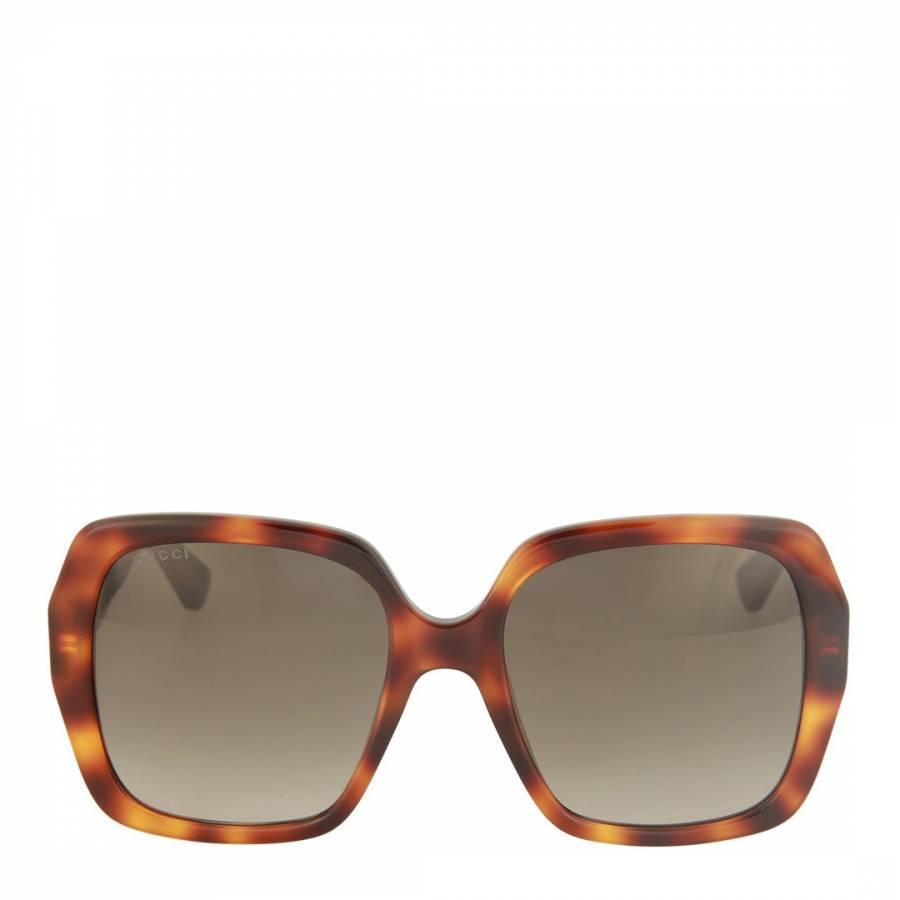 ed5c2736b Women's Tortoise Gucci Oversized Sunglasses 54mm - BrandAlley