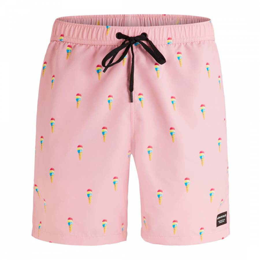 38cdab6842 Pink Sylvester Loose Swim Shorts - BrandAlley