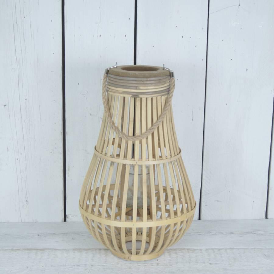 Image of Short Bulbous Bamboo Lantern