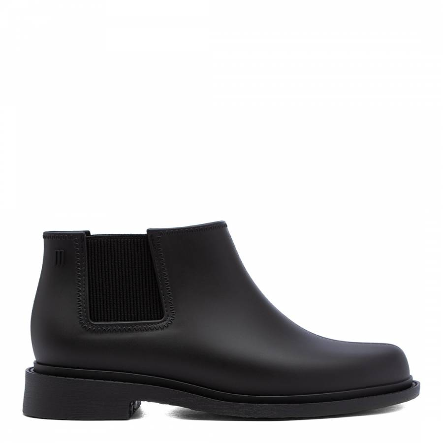 Image of Black Matte Skin Low Ankle Boots