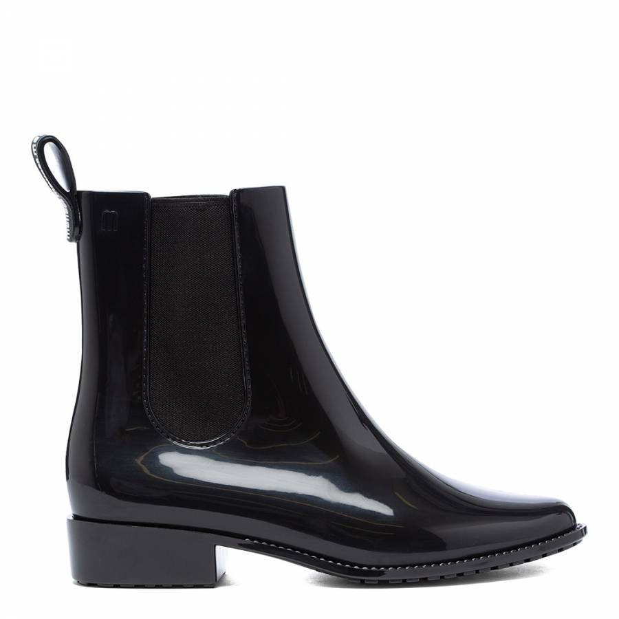 Image of Black Gloss Riding Low Chelsea Boots