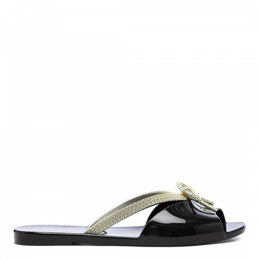 Image of Black Ela Glam 22 Flat Sandals