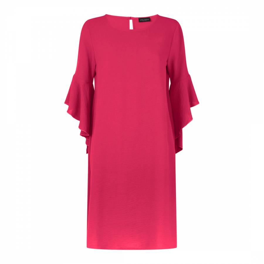 Image of Fuchsia Flute Sleeve Dress