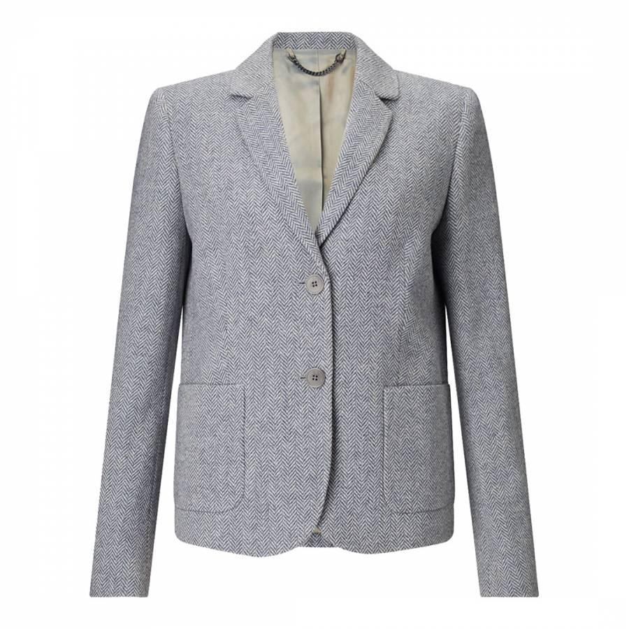 Pale Blue Patch Pocket Jacket - BrandAlley