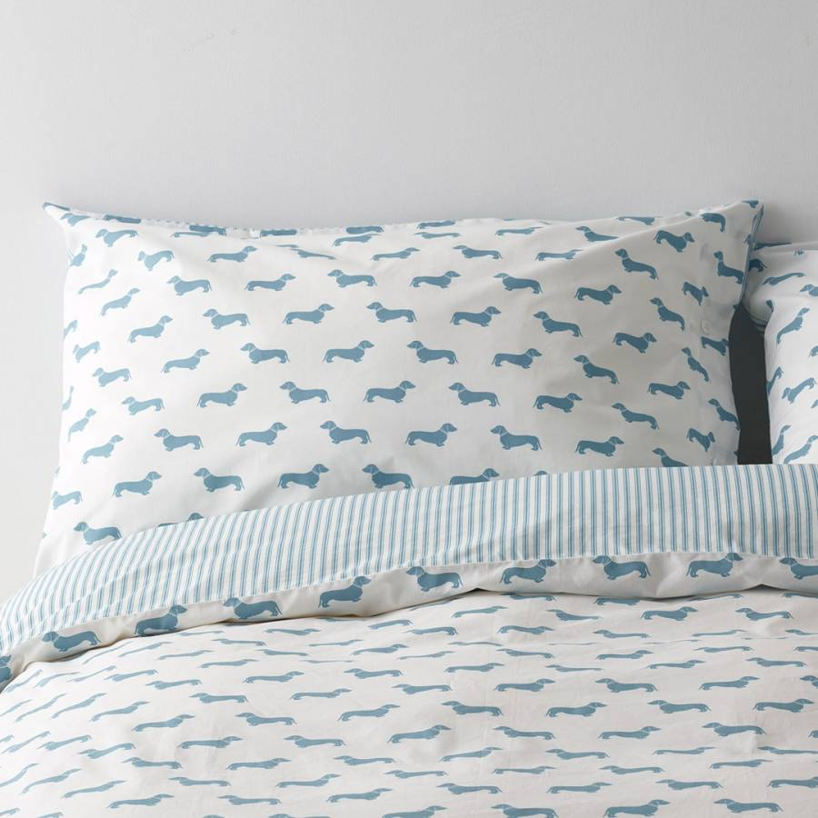 Grey Dachshund Bed Linen – Emily Bond