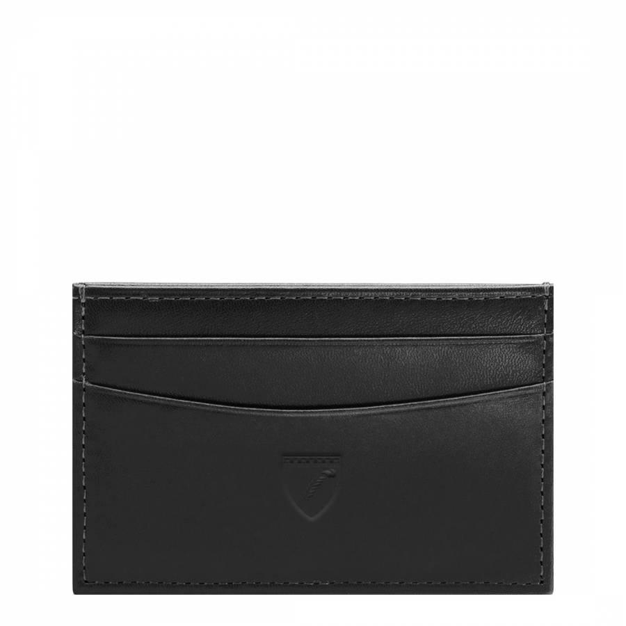 wholesale dealer 25bd0 a5865 Black Smooth Slim Credit Card Case