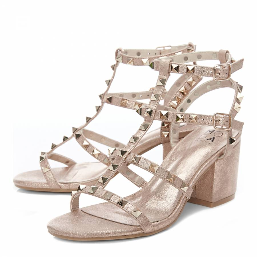 c78ed8911011a ... Mima Rose Gold Porvair Studded Heeled Sandal. prev. next. Zoom