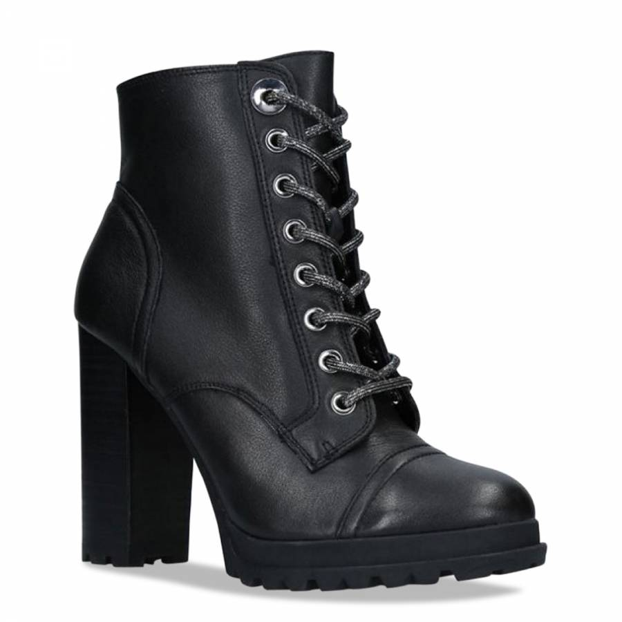 Black Multi Leather Marille Ankle Boot