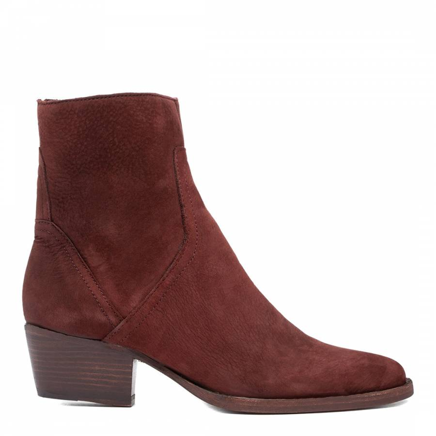 Image of Bordeaux Beryl Nubuck Leather Ankle Boot