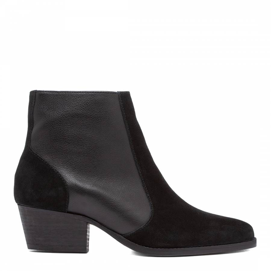 Image of Black Hedemann Suede Ankle Boot