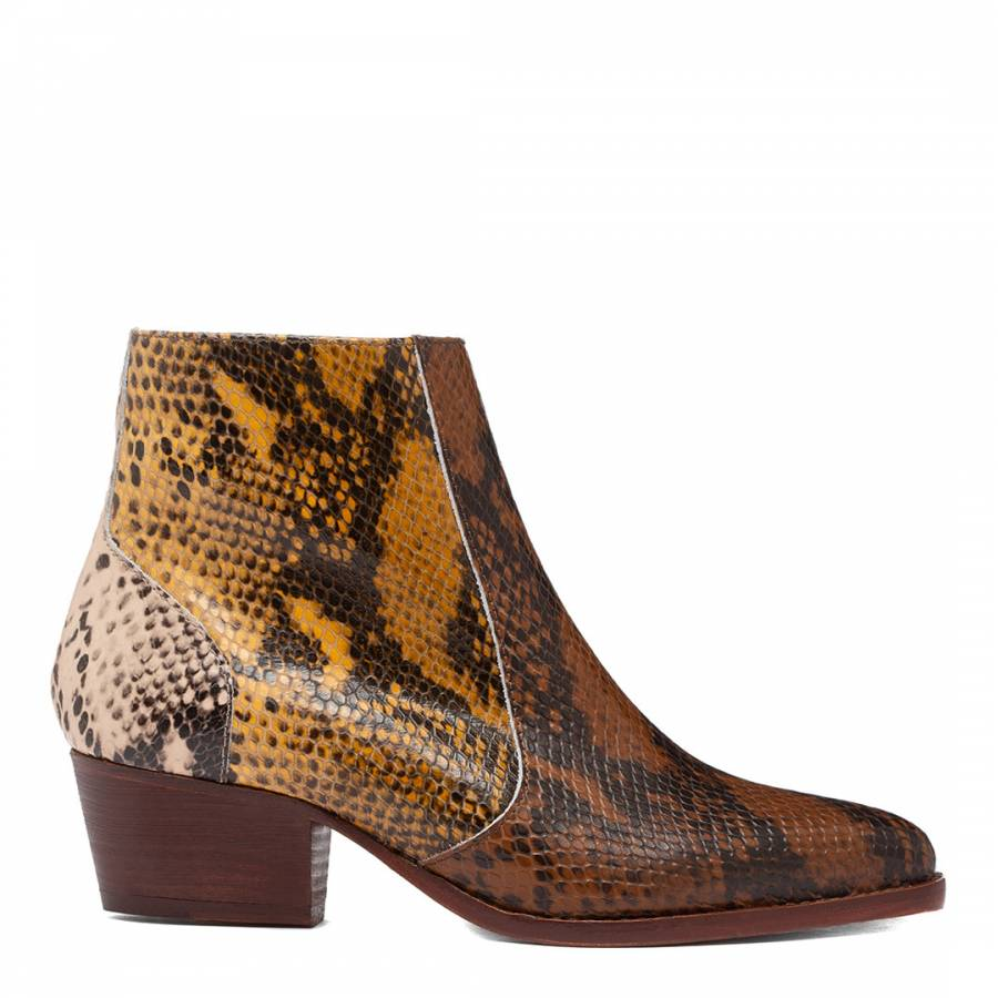 Image of Reptile Hedemann Leather Ankle Boot
