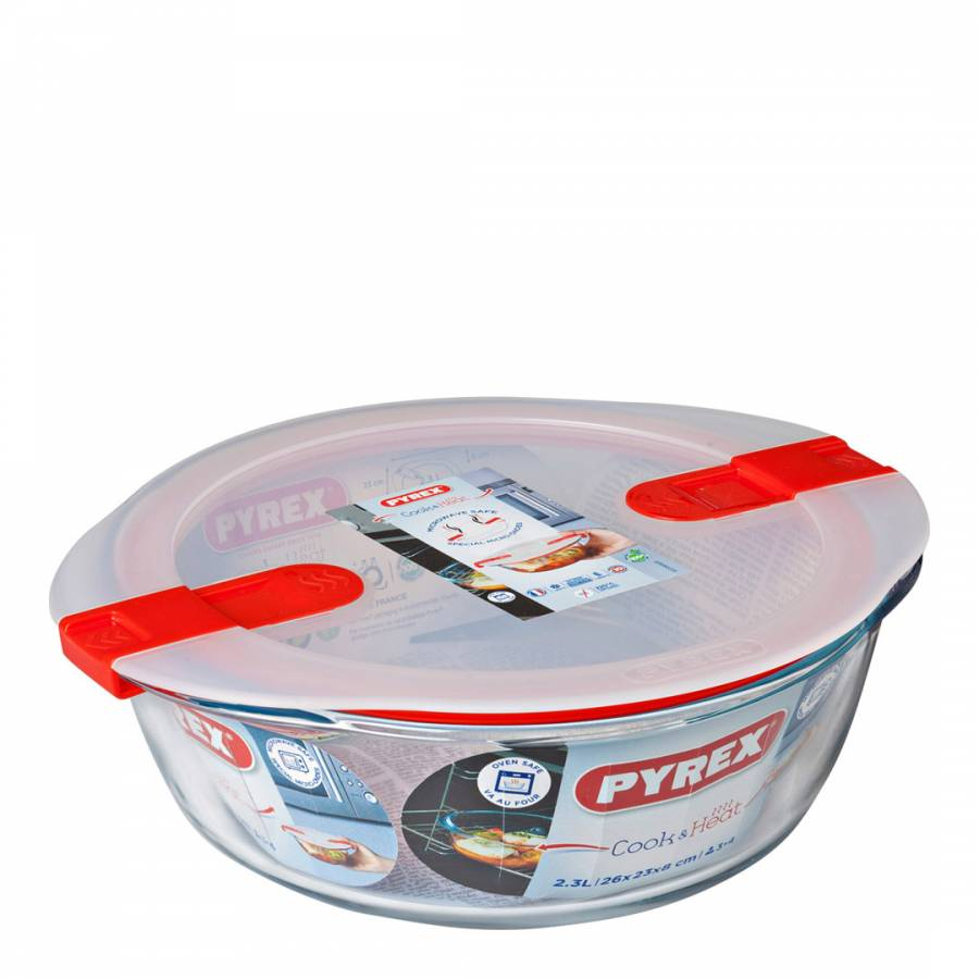 Image of Cook & Heat Round Dish with Valve Lid 2.3L