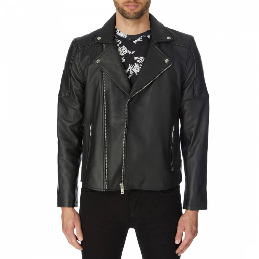Image of Black Leather Elliot Jacket