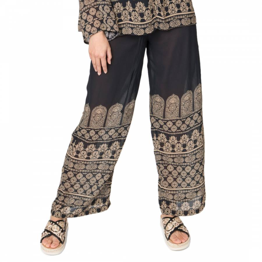 Image of Black/Gold Fazia Trousers