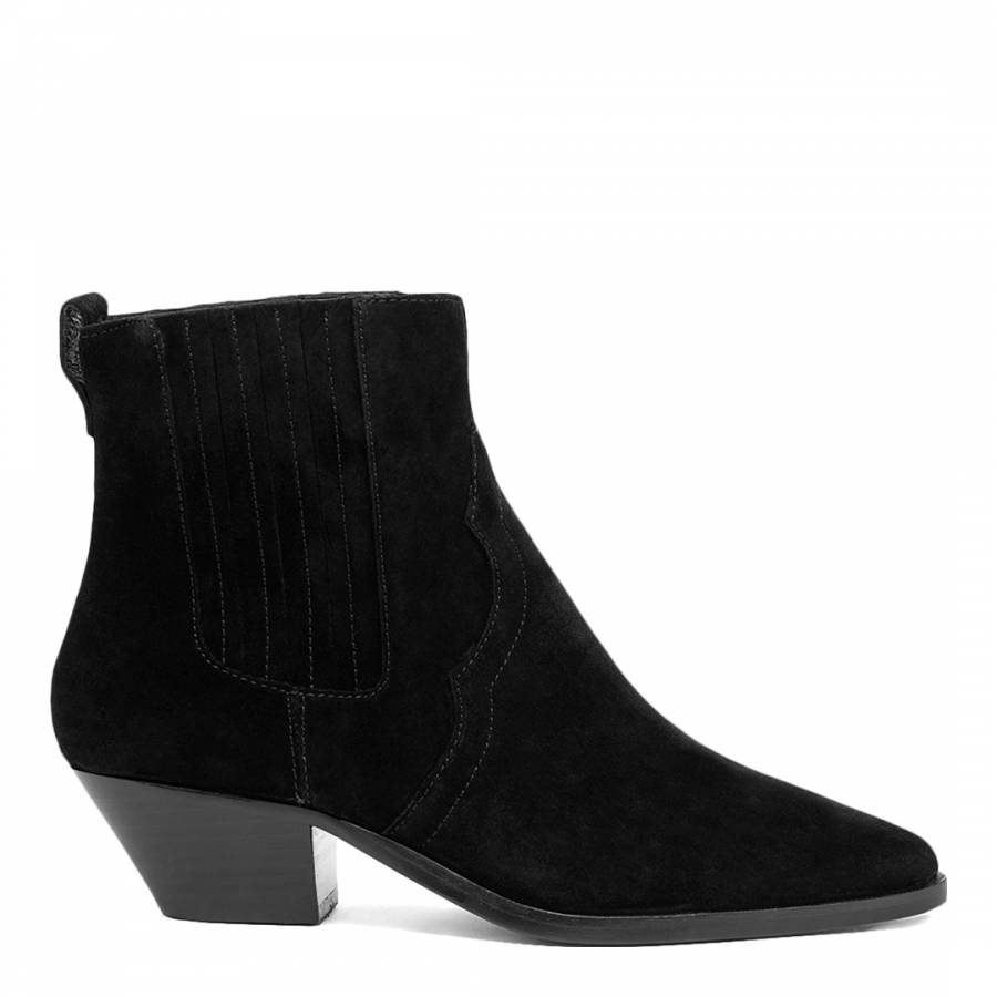 Image of Black Future Suede Ankle Boots