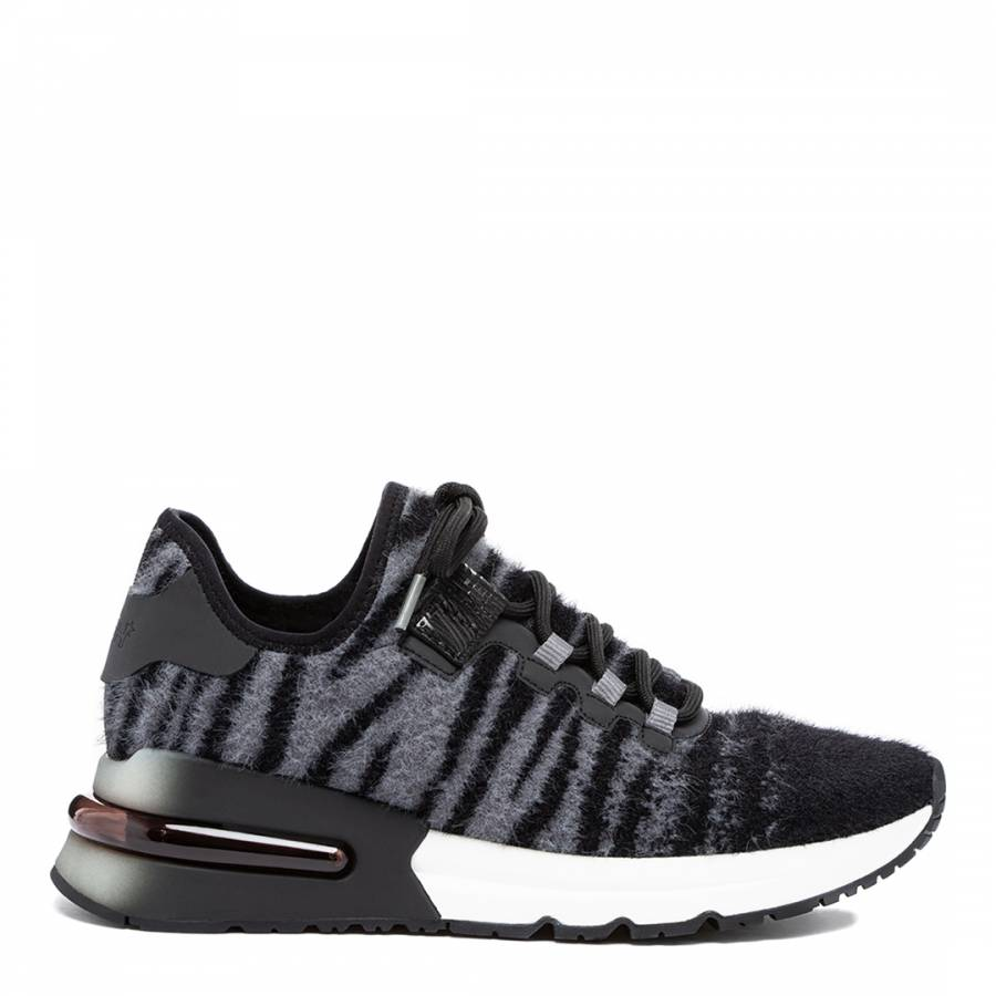 Image of Black/Grey Zebra Krush Sneakers