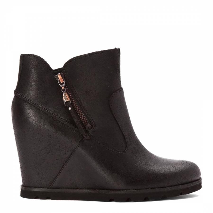 Myrna Wedge Heel Ankle Boot - BrandAlley