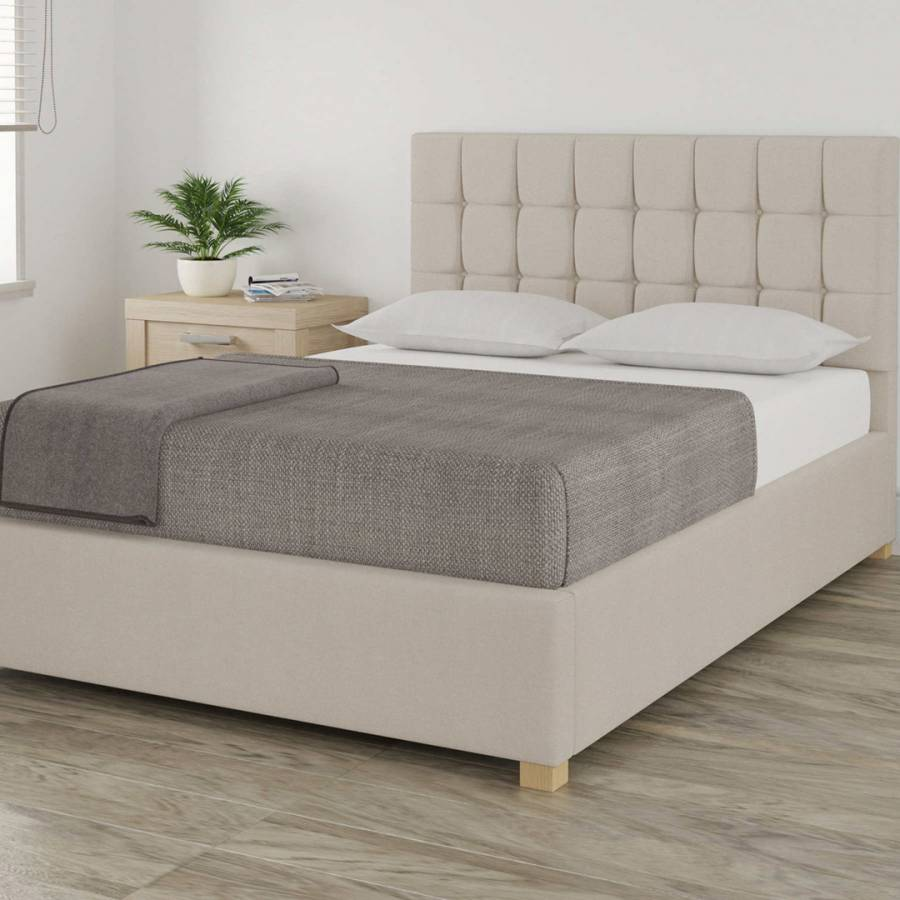 Fine Aspire Furniture Aldgate Linen Fabric Ottoman Bed Small Double 4 Off White Bralicious Painted Fabric Chair Ideas Braliciousco