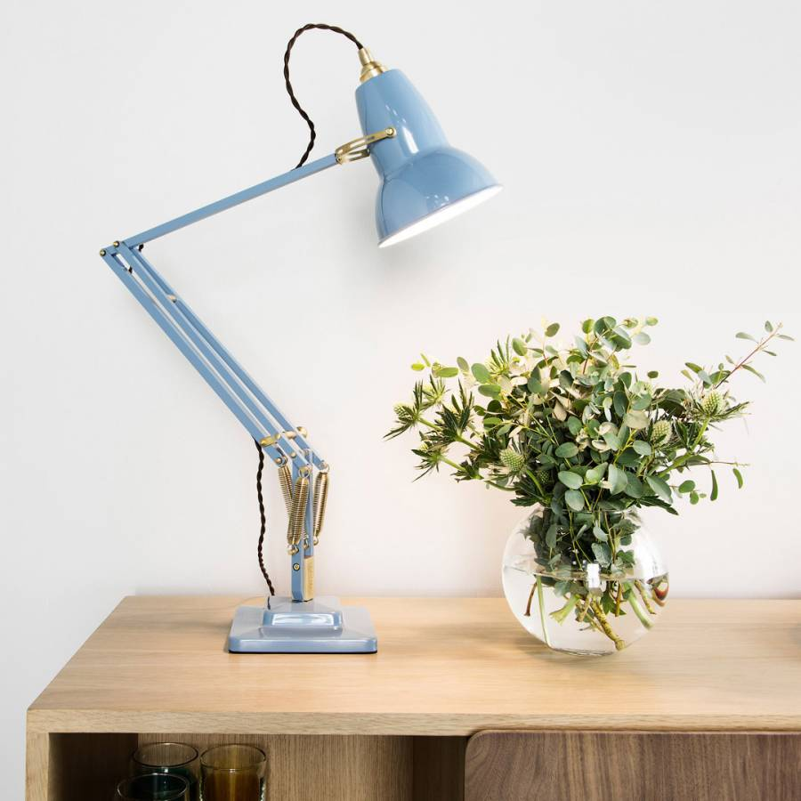 Dusty Blue Original 1227 Brass Desk Lamp BrandAlley