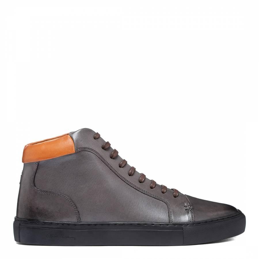 Grey Normanby High Top Sneaker - BrandAlley