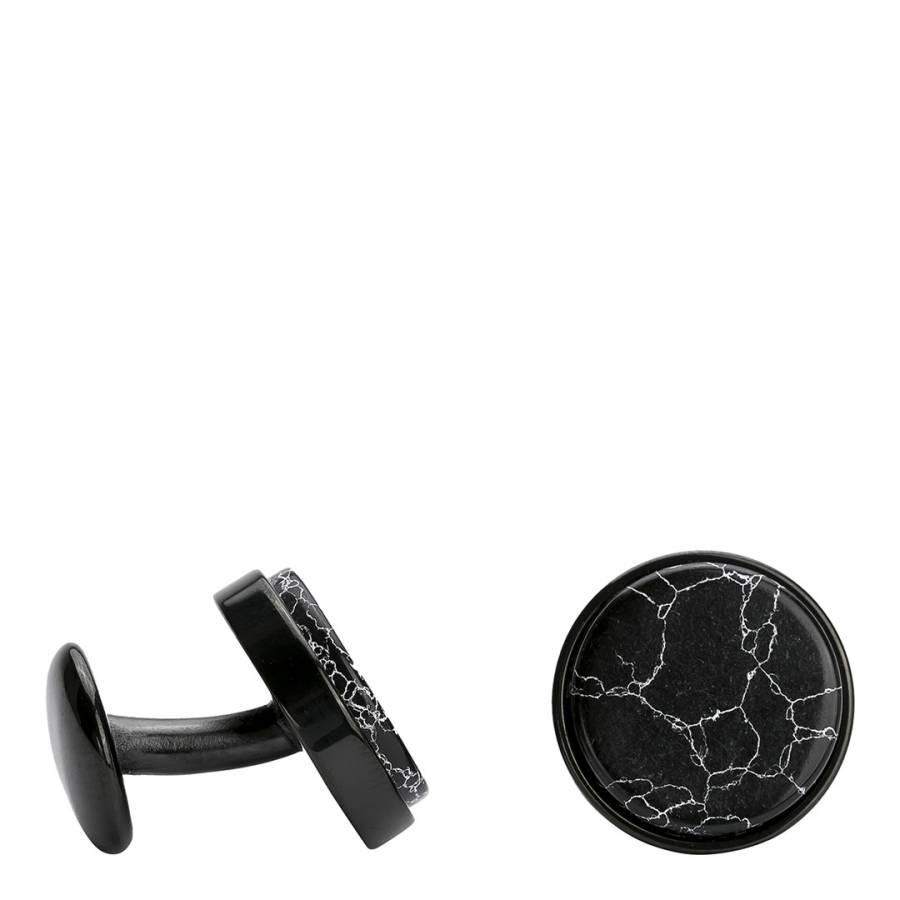 Image of Men's Black Marble Cufflinks