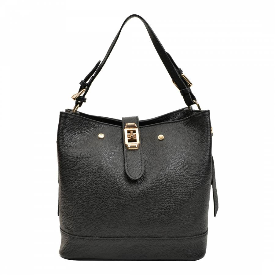 Image of Black Leather Handbag