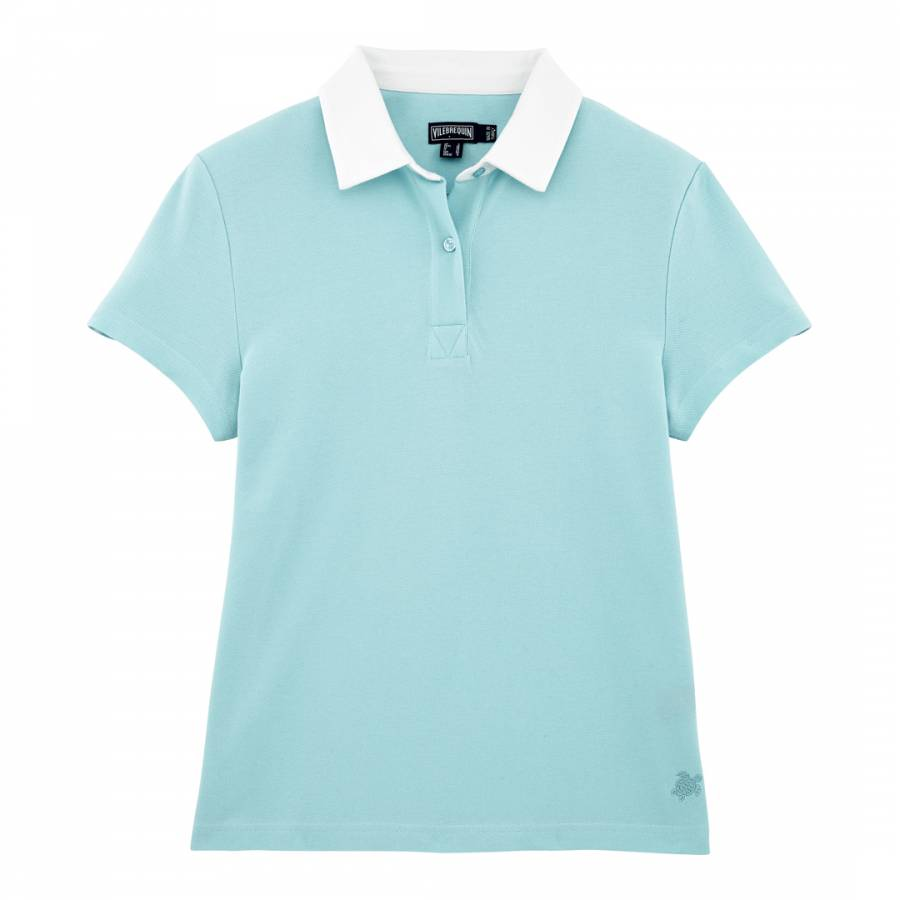 Image of Baby Blue Short Sleeve Polo Top