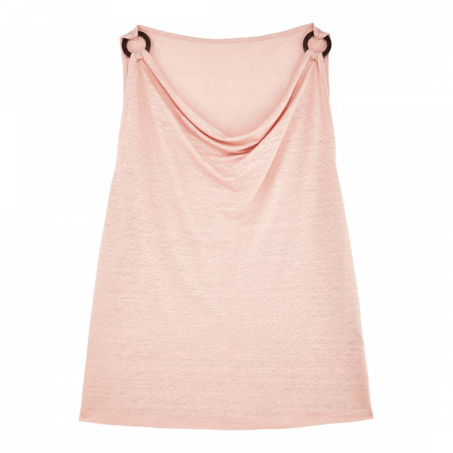 Image of Baby Pink Cowls Neck Top