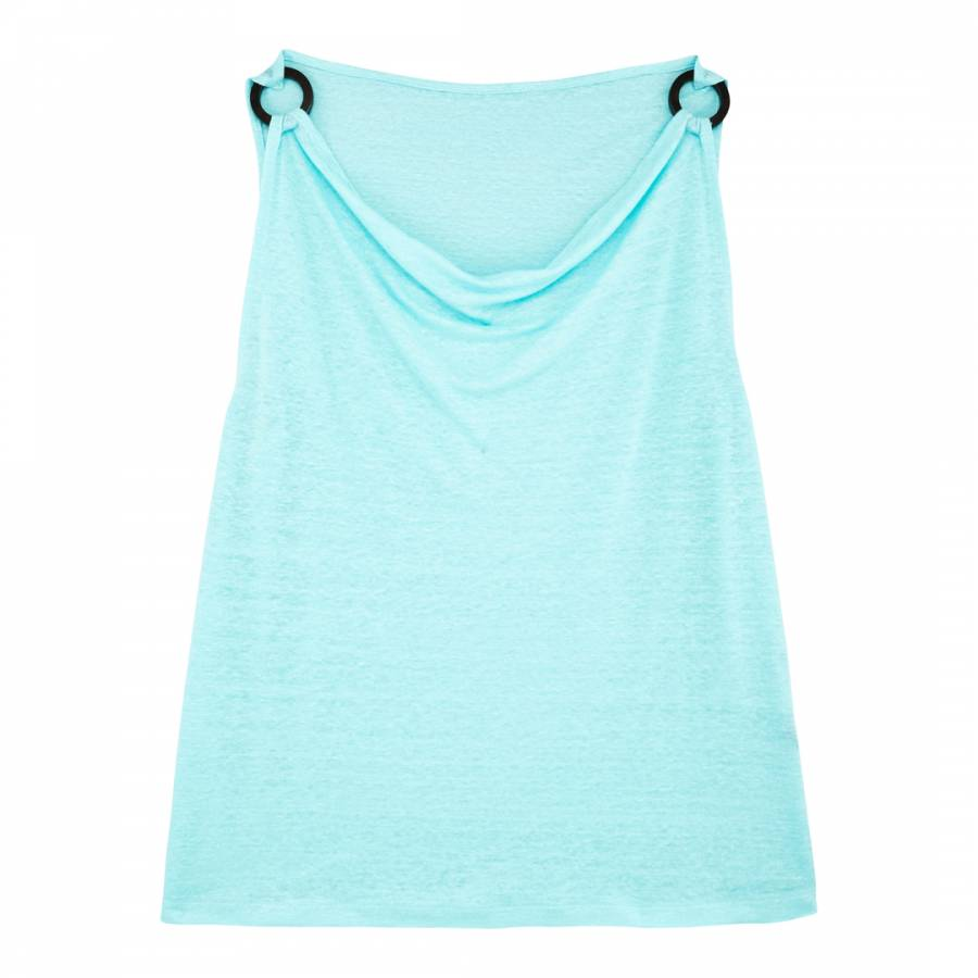 Image of Baby Blue Cowls Neck Top