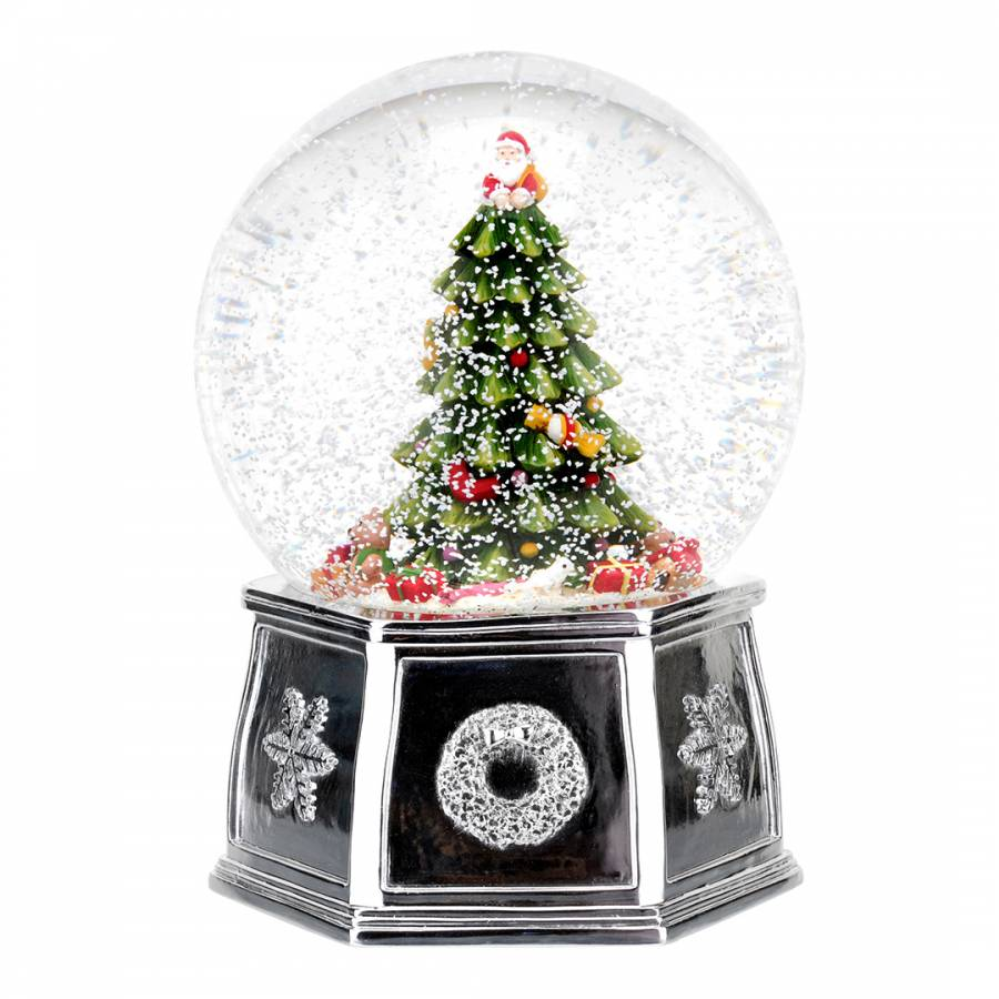Snowing And Musical Christmas Tree: Christmas Tree Musical Tree Snow Globe