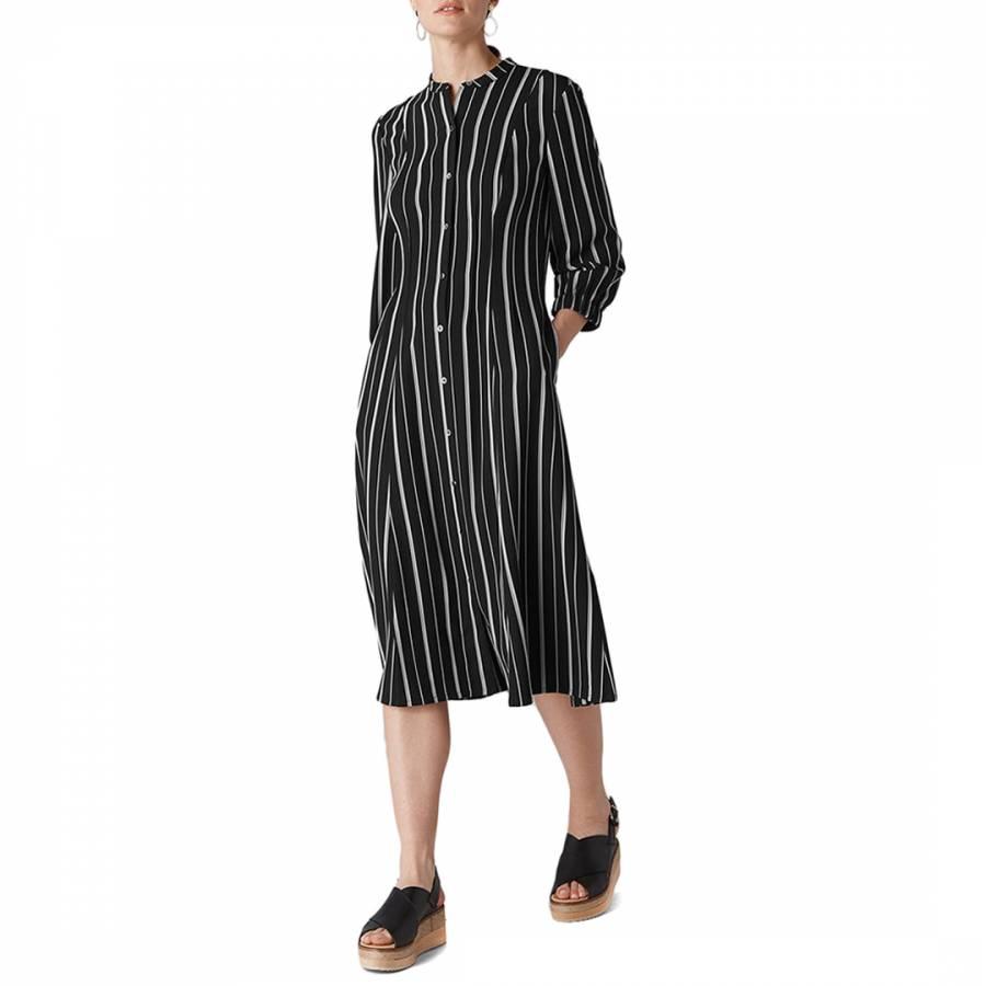new season special promotion choose genuine WHISTLES Multi Leesa Stripe Shirt Dress