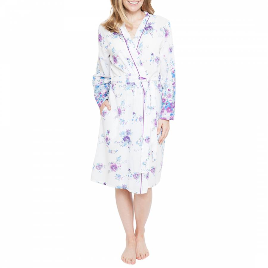 low price sale cheap for discount casual shoes ZARA WOVEN LONG SLEEVE FLAMINGO PRINT SHORT ROBE - BrandAlley