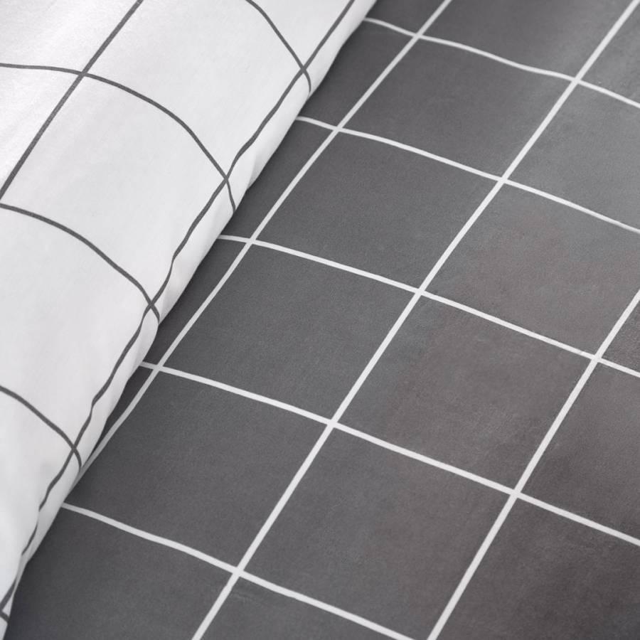 Harvard Check King Duvet Cover Set Grey Brandalley