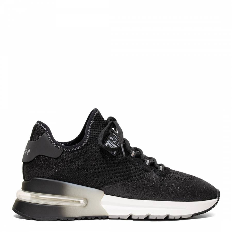 Image of Black Glitter Krush Trainers