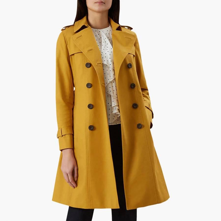 Ex Hobbs Red Romy Long Coat Size 14