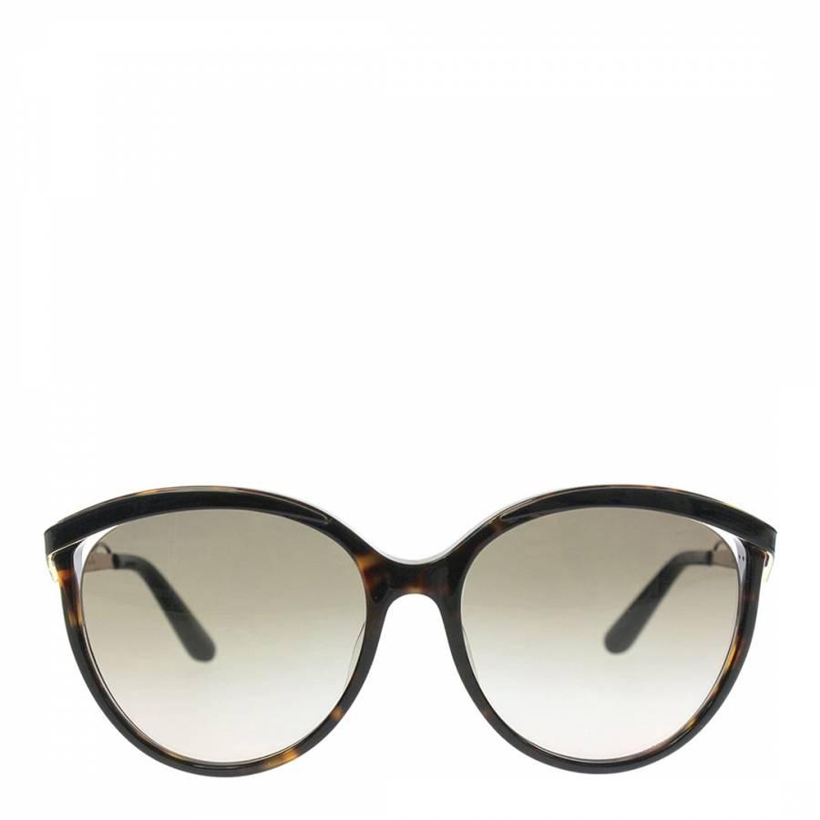 Image of Women's Black/Brown Dior Sunglasses 57mm
