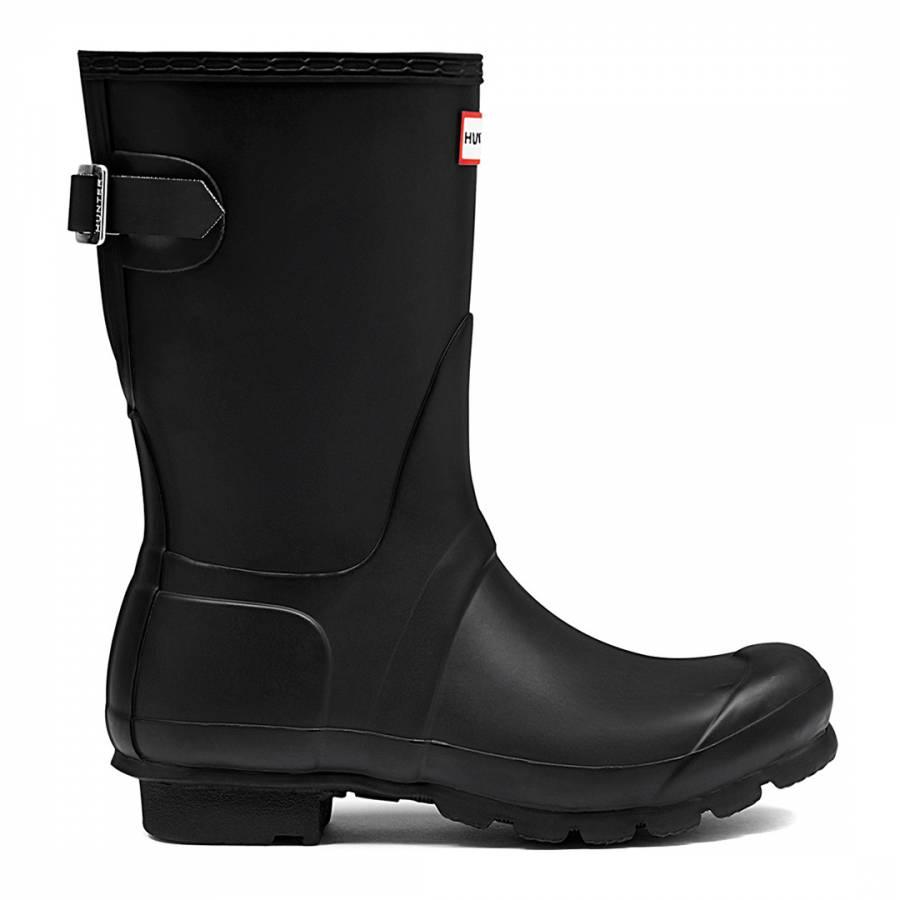 Image of Black Original Adjustable Short Wellington Boots