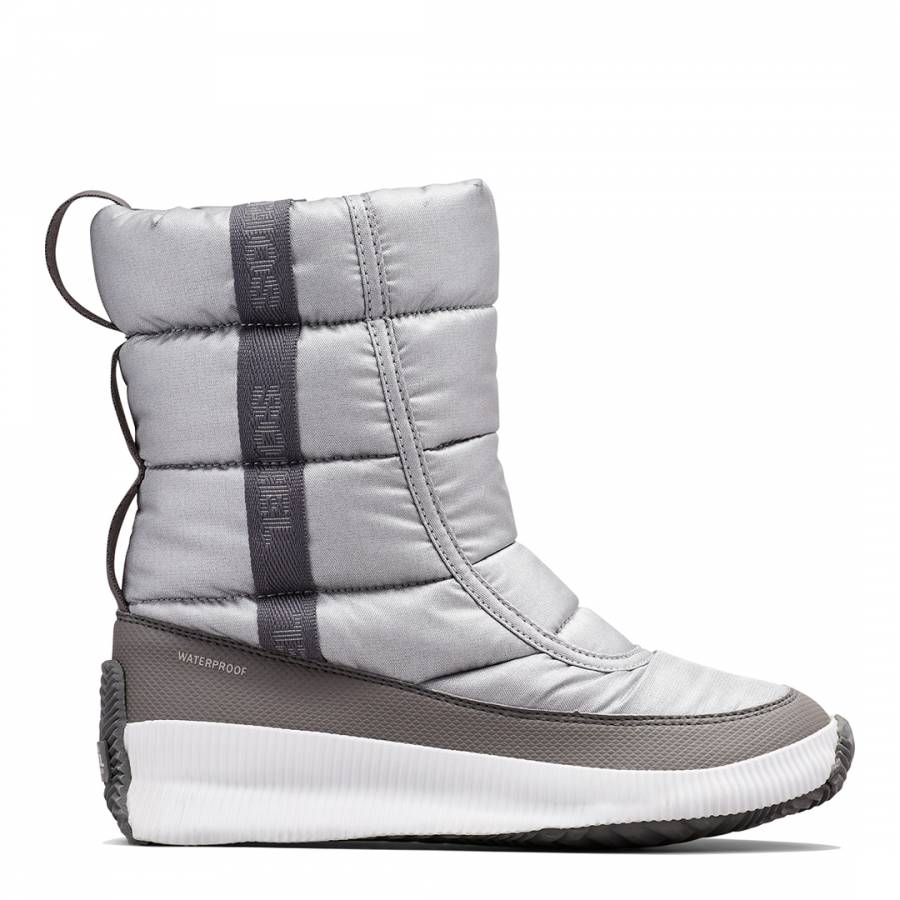 Image of Silver Out N About Puff Mid Snow Boots