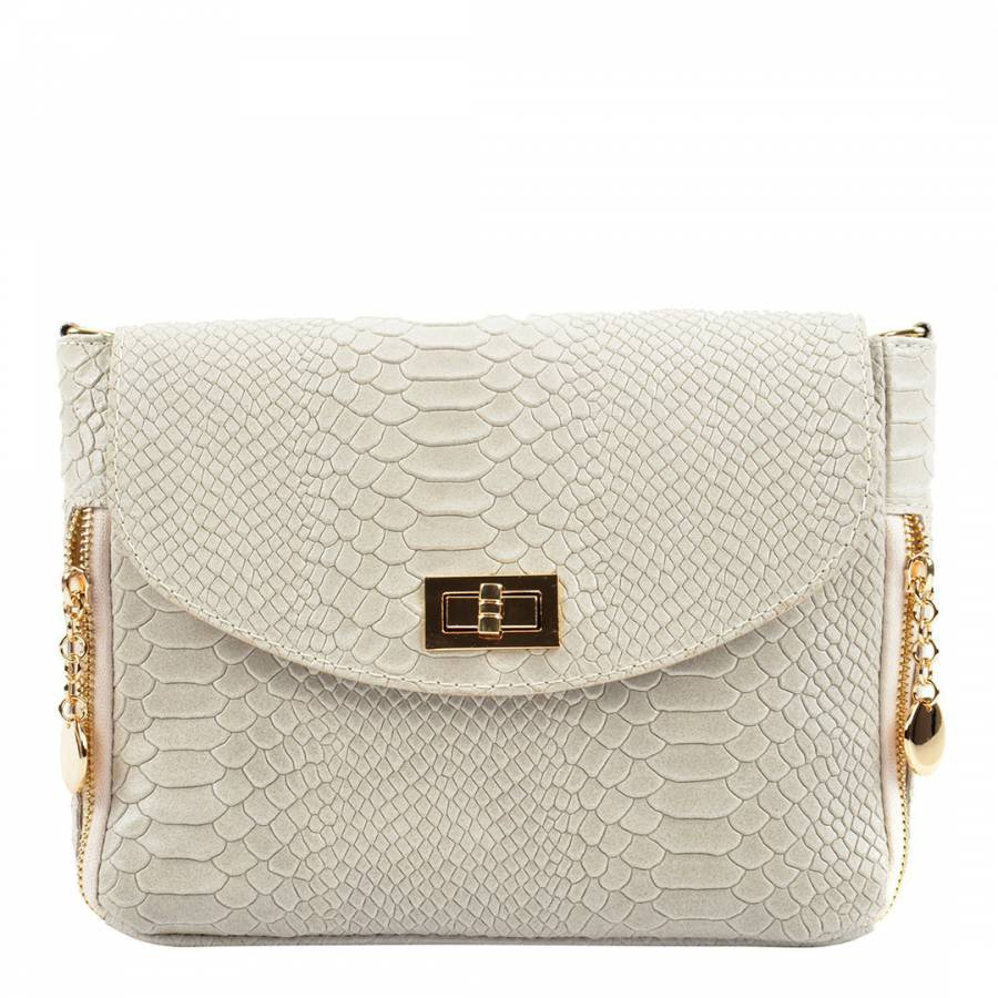 Image of Beige Leather Crossbody Bag
