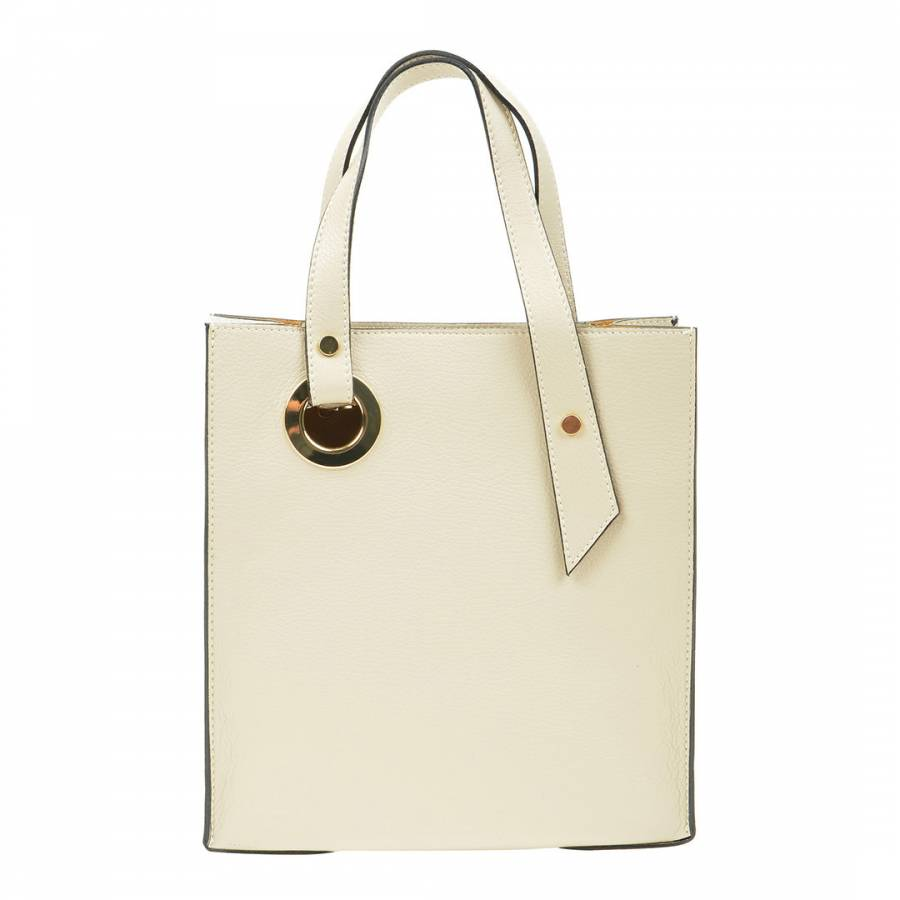 Image of Beige Leather Handbag