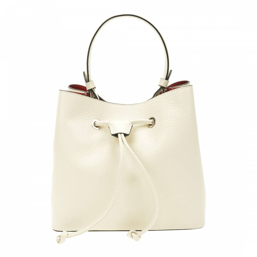 Image of Beige Leather Top Handle Bag