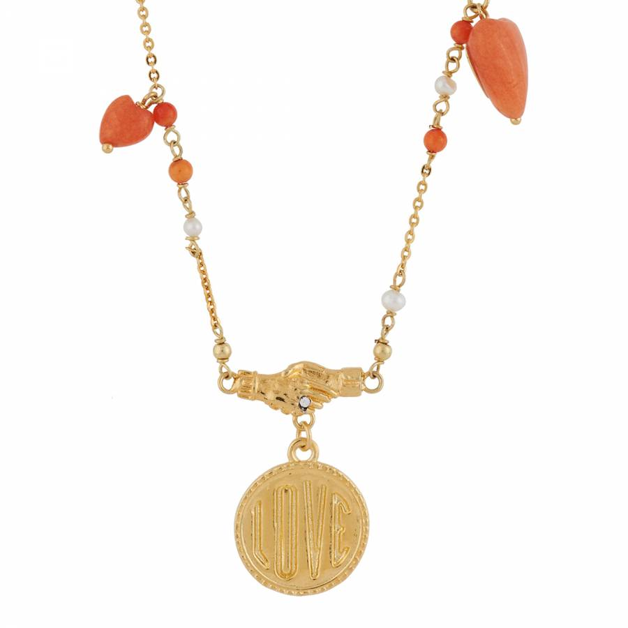 Image of Gold Love Me Charm Necklace
