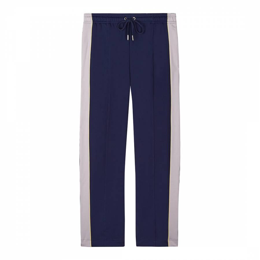 Navy/Lilac Drawstring Track Pants - BrandAlley