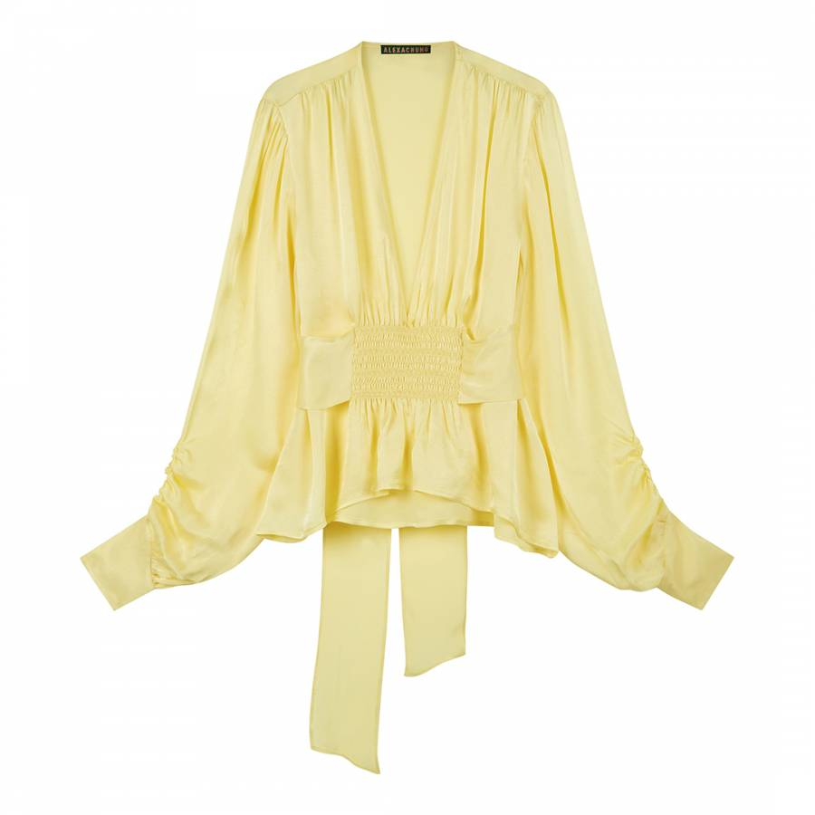 Pale Yellow Evening Smock Top - BrandAlley