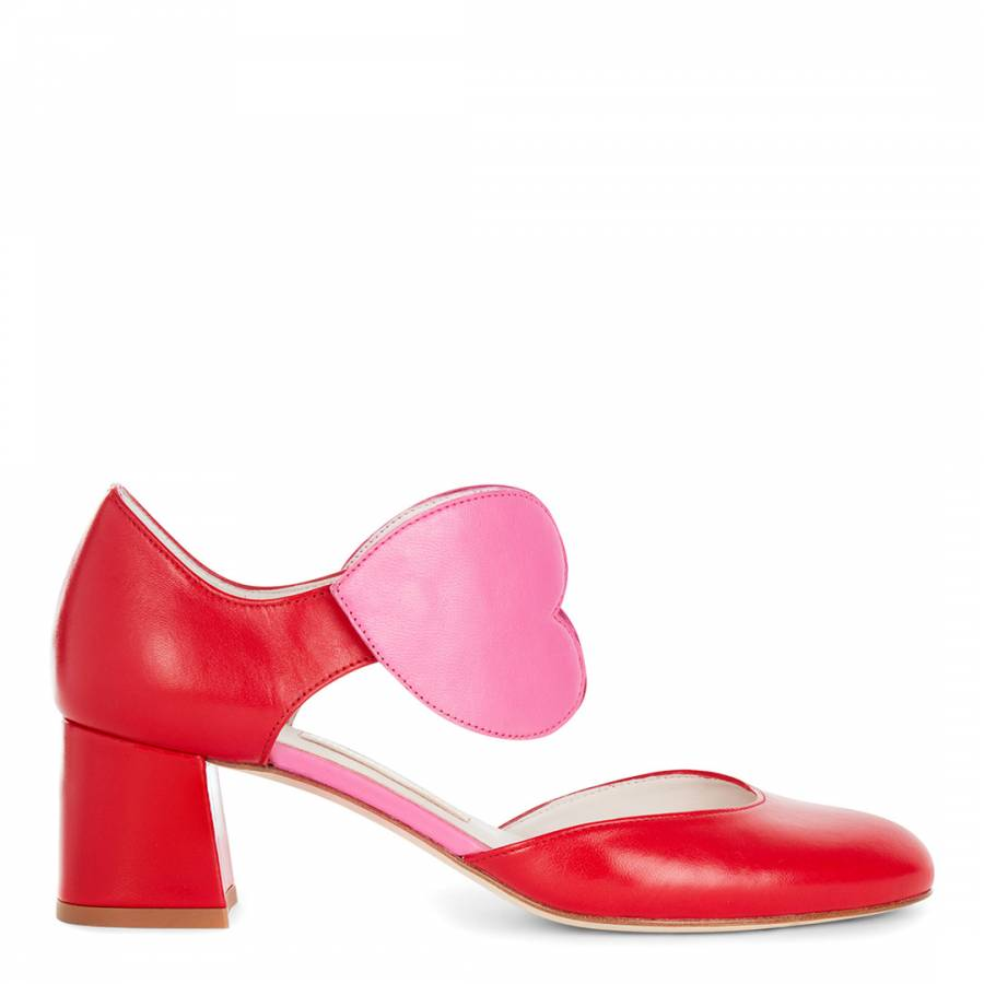 lulu guinness pink shoes