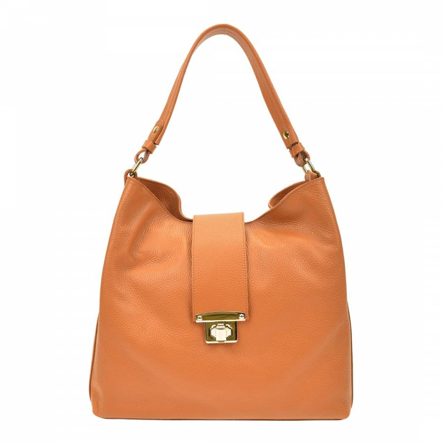 Image of Cognac Leather Handbag