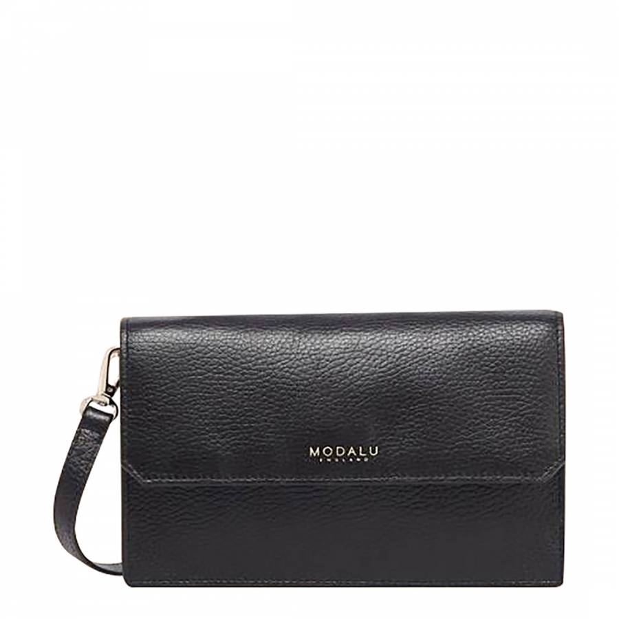 Image of Black Leather Tamsin Crossbody