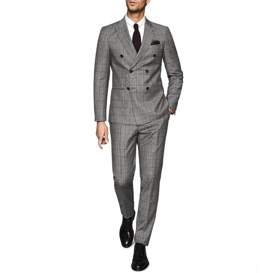 Men S Charcoal Regular Fit Twill Wool Blend Suit Brandalley